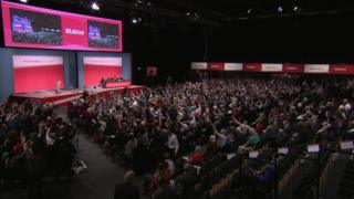 Delegates vote for rail nationalisation at the party conference