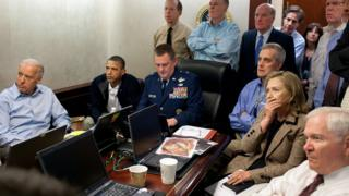 Obama oversaw the Osama bin Laden raid from the Situation Room