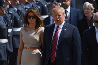 Дональд Трамп и его жена Мелания