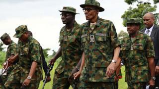 President Buhari with chief of army staff Gen. Tukur Yusuf Burutai