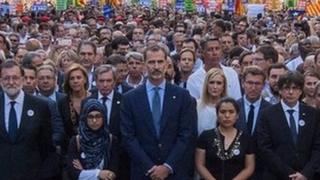 Филипп VI на демонстрации в Барселоне