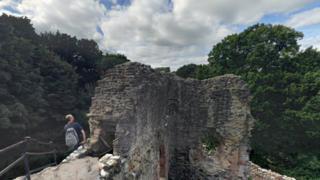 The park's Ewloe Castle was built by Welsh princes