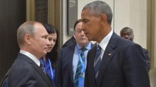 Rais wa Urusi na mwenzake wa Marekani Barrack Obama