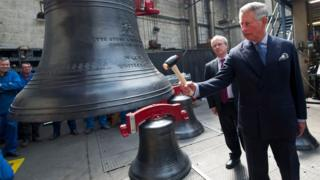 Prince Charles at the foundry
