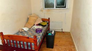The room in which the victim was kept