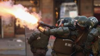 Policías chilenos