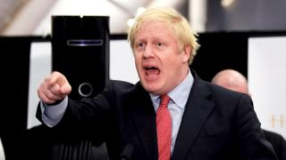 Boris Johnson gives a speech