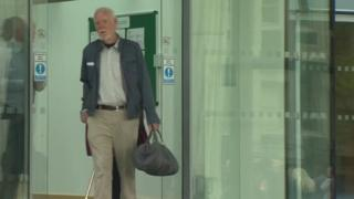 Roger Griffiths leaving Mold Crown Court