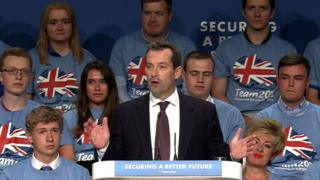 Rob Semple speaking at the Conservative Party Conference in 2014