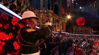 The Last Post being played