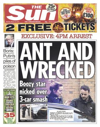Sun front page - 19/03/18