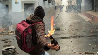 Ecuador protester