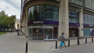 NatWest Bank in St Philip's Place, Birmingham