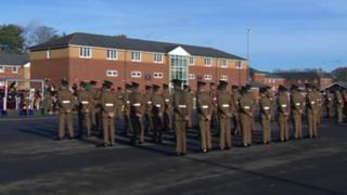 Mons Barracks parade