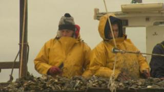 Oysterman and oysterwoman, Colchester Oyster Fishery