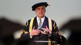 Prince Andrew at the University of Huddersfield