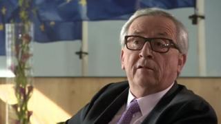 Avrupa Komisyonu Başkanı Jean-Claude Juncker, BBC'nin Avrupa editörü Katya Adler'e konuştu.