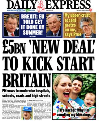 Daily Express front page 30.06.20