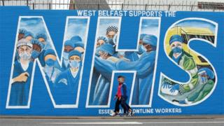 Northern Ireland A mural supporting the NHS in west Belfast