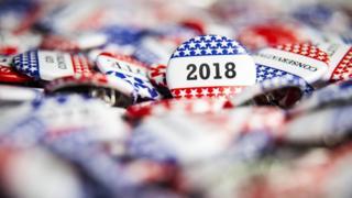 Botons das eleições 2018 nos EUA