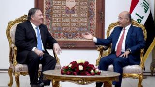 وزير الخارجية الأمريكي اجتمع مع الرئيس العراقي في بغداد