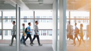 Student in corridor