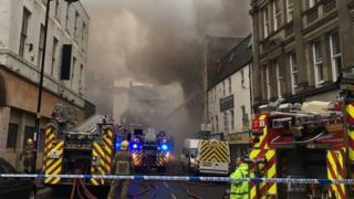 Cross Street fire