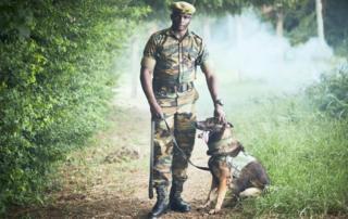 Kenijski čuvar prirode sa svojim psom