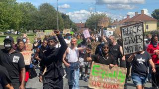 , K-Dogg: BLM march held after Bristol race attack