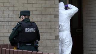 Police at scene of pipe bomb attack