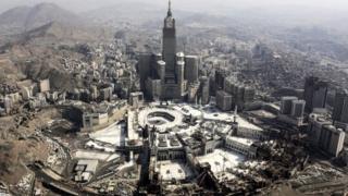 منظر جوي للمسجد الحرام في مكة