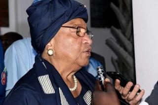 Umukuru w'igihugu ca Liberia Ellen Johnson Sirleaf