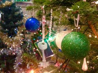 Christmas tree at St Mary's Church, Melton Mowbray