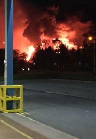 Fire at Southfield Industrial Estate in Glenrothes