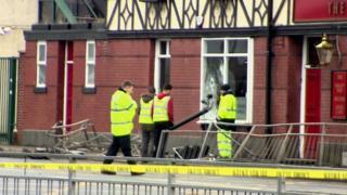 Crash scene Old Trafford
