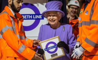 The Queen at Elizabeth line