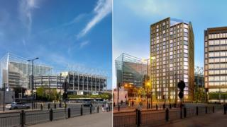 Image showing Strawberry Place before and after proposed development