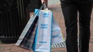 A shopper in Washington, DC