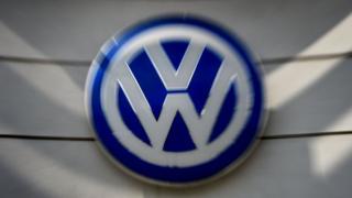 Volkswagen logos at a dealership