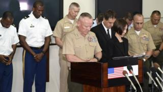 Marine Corps commander in Japan Lt Gen Lawrence Nicholson, 28 May