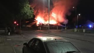 Nitshill Road fire