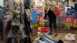 In Pontypridd businesses are counting the cost of the second storm in less than two weeks
