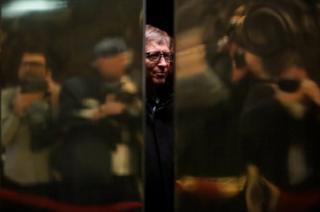 Businessman Bill Gates arrives at Trump Tower in Manhattan, New York City
