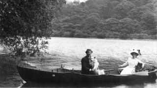 Day trippers at Rudyard Lake, early 20th Century