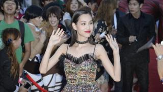 Actress Kiko Mizuhara arrives for the world premiere of 'Attack On Titan,' a live action feature film based on the Japanese dark fantasy manga series of the same name