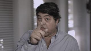 O apresentador Datena em vídeo de apoio a Alckmin