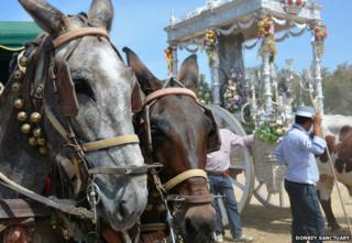 Horses at El Rocio