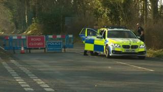 Police at Winchester fatal crash site