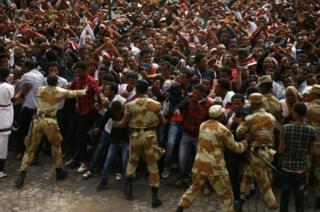 Watu kadhaa nchini Ethiopia ambao walikuwa wakifanya maandamano ya kuipinga serikali walifariki katika makanyagano