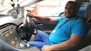 Taxi driver Fozlu Miah